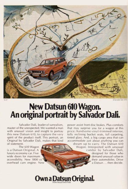 datsun 610 wagon reklama Dali
